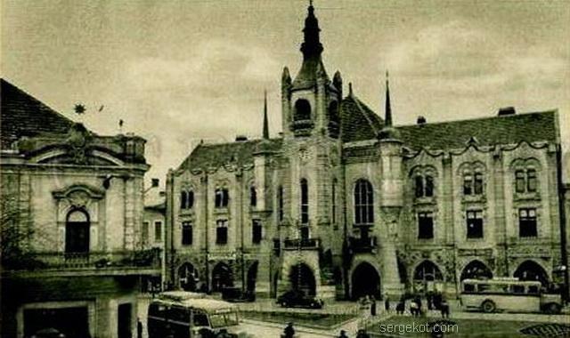 Мукачево. Гордская ратуша, Начало ХХ века