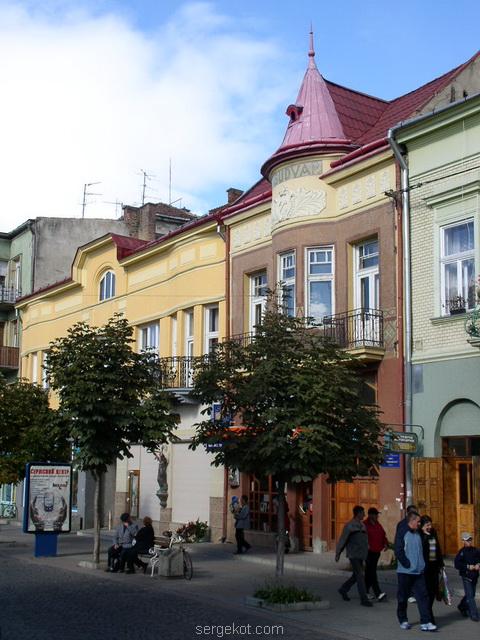 Мукачево. Центральные улицы. 2005.