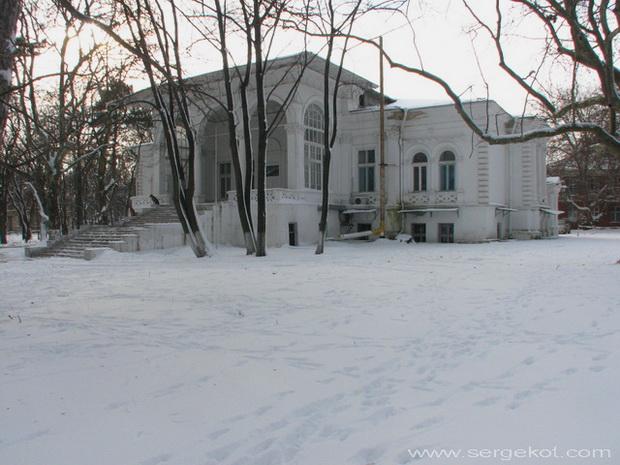 Дача Ашкенази. Вид со стороны собственного парка. Зима 2010.