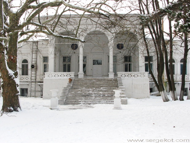 Дача Ашкенази. Парковый фасад. Главная лестница. Зима 2010.