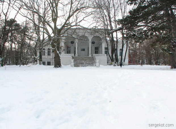 Дача Ашкенази. Парковый фасад. Зима 2010.