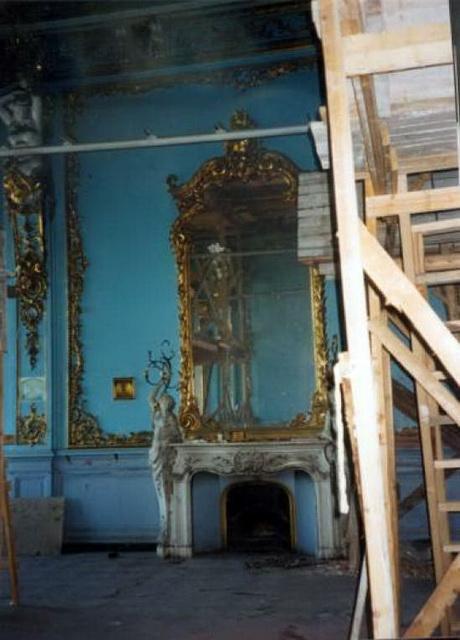 Дом Штиглица А.Л. (дворец Великого князя Павла Александровича). Голубая гостиная. 2 этаж.-