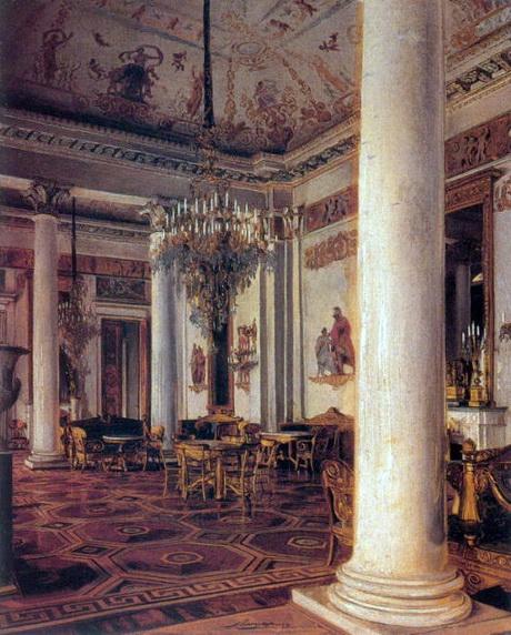 Парадная гостиная в Михайловском дворце. Худ. Э. К. Липгарт. До 1896.460