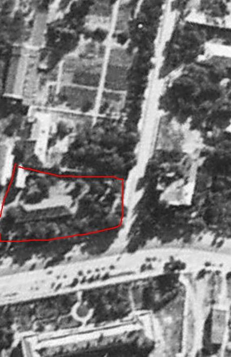 Французский бульвар 35-37, аэрофотсъекмеа 1944 года.