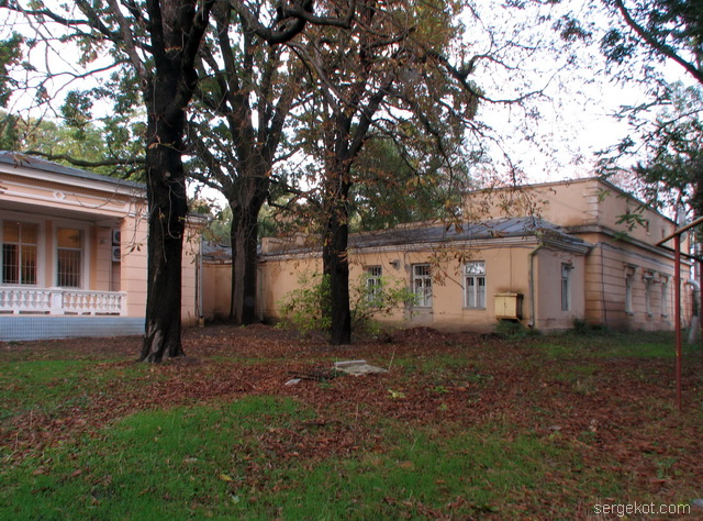 Французский бульвар, 79, дача Бродского, Дача и  Хоз постройки, ворота..