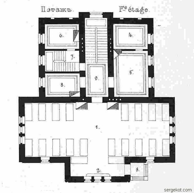 Школа Садоводства. План второго этажа.
