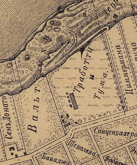 Французский бульвар. Фрагмент карты 1894 года.