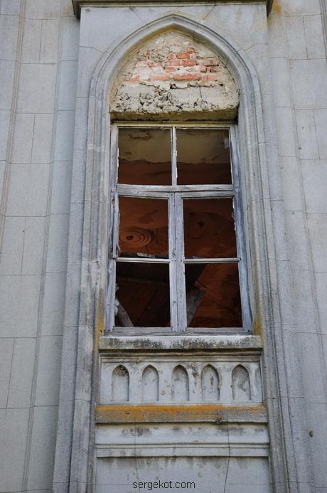 Червоно. Дворец Терещенко. Задний фасад. Окна.