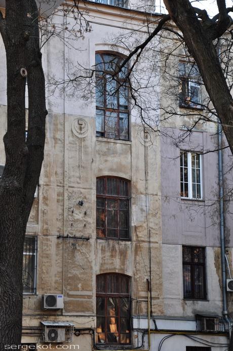 Французский бульвар 11б Дворовой фасад.