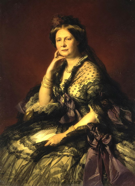 Francois-Xavier-Winterhalter-Portrait-of-Grand-Princess-Yelena-Pavlovna.