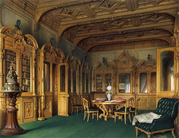 Mansion-of-Baron-A-L-Stieglitz.-Library-