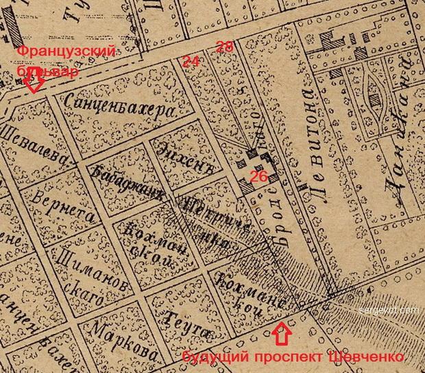 район дачи Анатра, 1894.