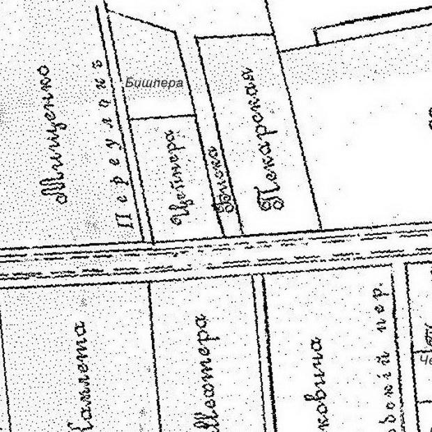 Фрагмент карты Зуева