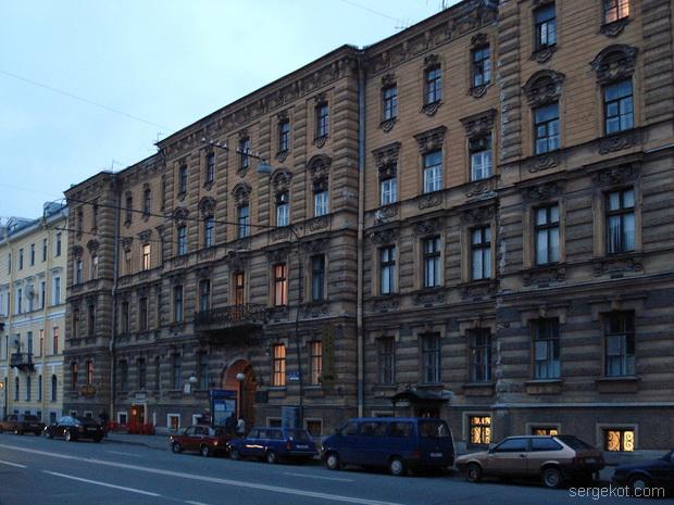 Владимирский дворец со сторны Миллионной.