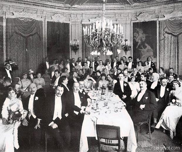балетный ужин в ресторане Кюба. 1914-сайт