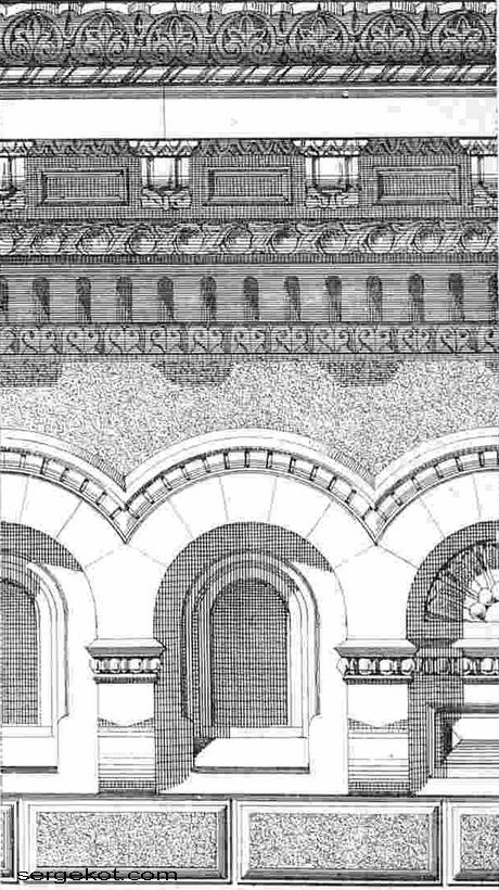Фрагмент фасада Владимирского дворца.