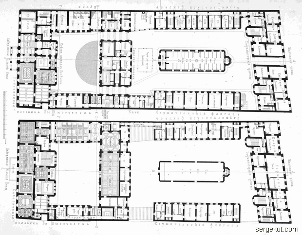 План двух этажей дворца Вел.Кн. Владимира Александровича.