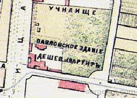Карта Одессы 1888 го