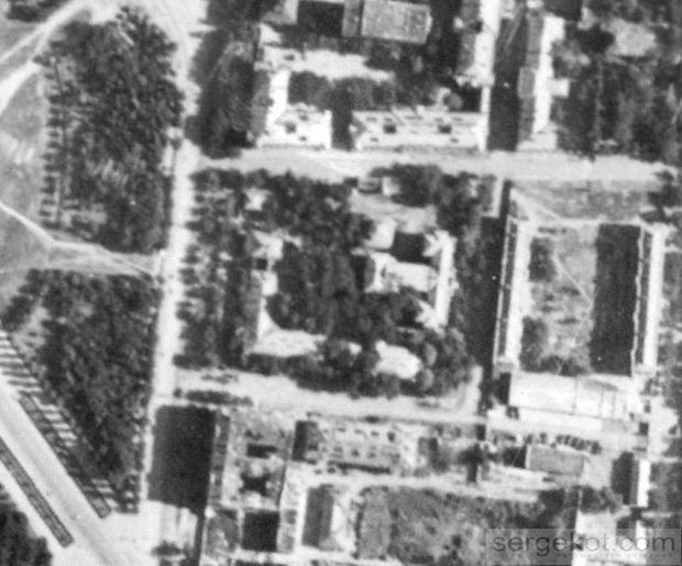 Одесса. Канатная 81 и 83, аэрофотосъемка 1944