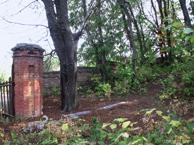 Тимановка. Дворец. Ограда имения..