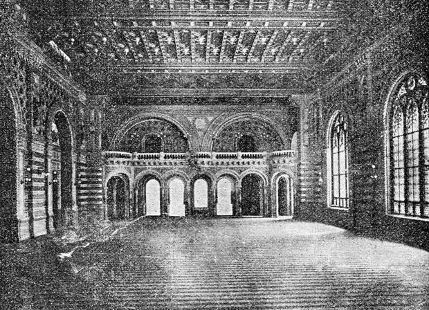 главный зал биржы. путеводитель Вайнера по Одессе 1901 года-