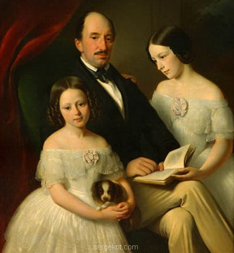Болеслав Потоцкий с Марией (справа) и Софией Идл.