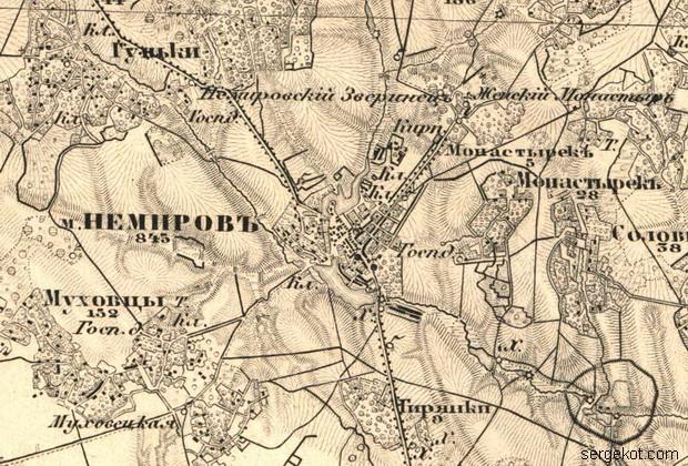Немиров на карте Шуберта.25-7