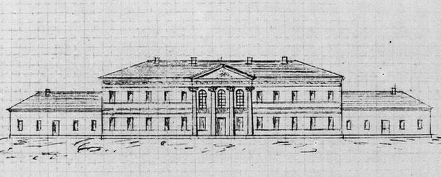 Второй проект дворца в Немирове.