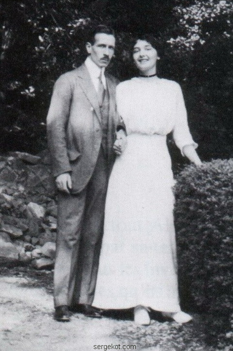 Елена Петровна Столыпина и ее супруг кн. Владимир Александрович Щербатов. 1915 год.