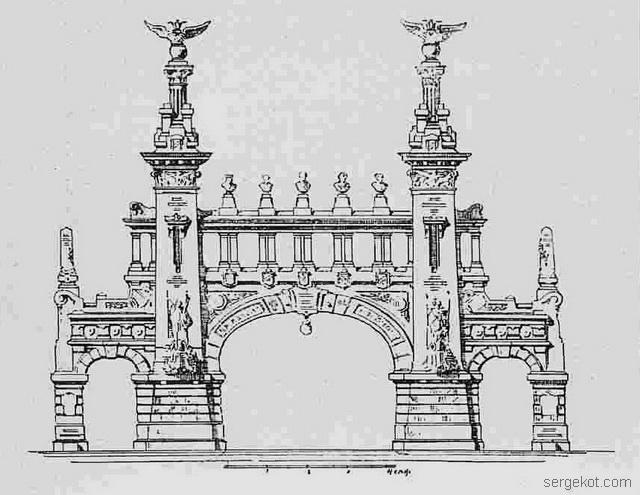 Арка на Французском бульваре. Зодчий-1902-20.-