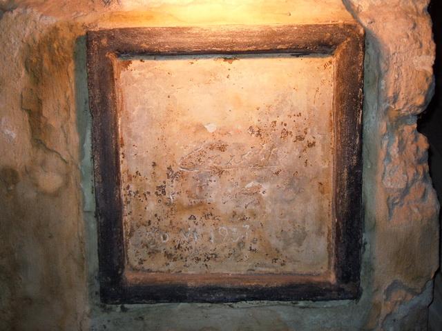 Підпис Кароля II, Короля Румунії, на стіні Королівського підвалу. Центр культури вина в Шабо 640