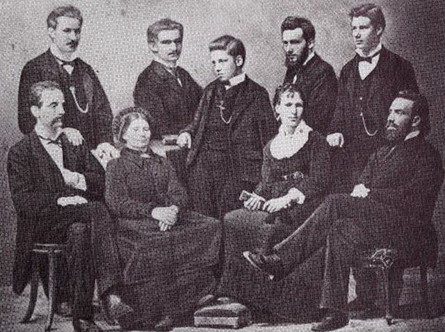 Семья Тардан, 1881.