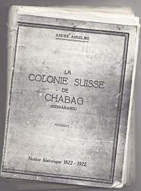 Книга Андре Ансельма на столетие колонии Шабо