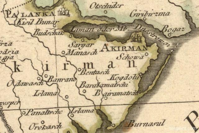 Karte von der Walachei, Moldau und Bessarabien 1788.