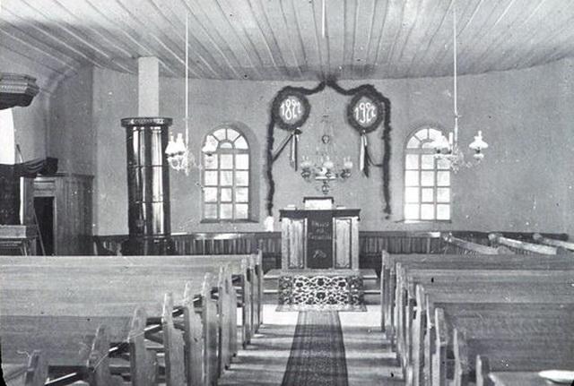 Интерьер храма Троицы сфотографировали в 1922 году во время празднования столетия Шабо
